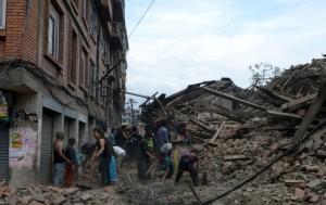El pueblo Nepalí Devastado. Foto AP