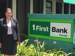 Pilar Montes, gerente general de FirstBank Florida.