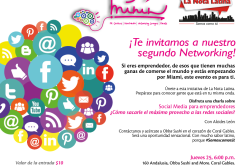 Social Media para Emprendedores,  tema del Networking de La Nota Latina