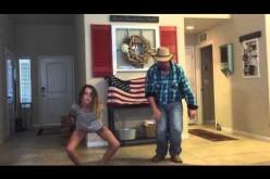 ¿Quién dijo que los Americanos no bailan? Mira este video viral de un padre con su hija