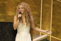 Shakira se luce en presentación ante el papa Francisco en la ONU