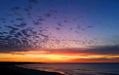 Los bellos amaneceres y cielos azules que capta día a día el lente de César Gamboa