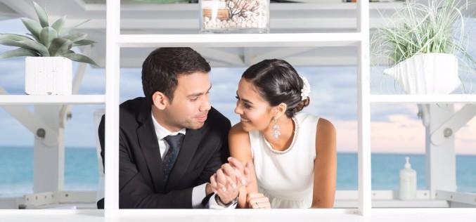 El elegante matrimonio civil de Jesús Sanoja y Andreína Toledo
