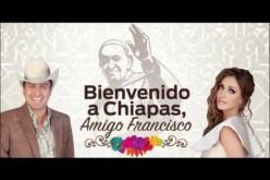 Anahí y Julión Álvarez  le cantan al Papa Amigo