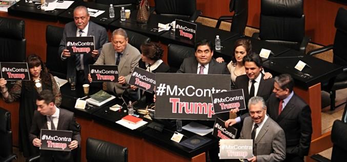Senadores mexicanos rechazan a Trump