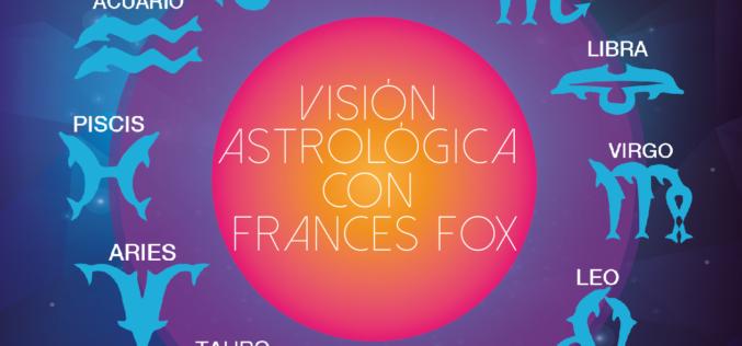Visión Astrológica con Frances Fox: Del 29 de agosto al 4 de septiembre 2016