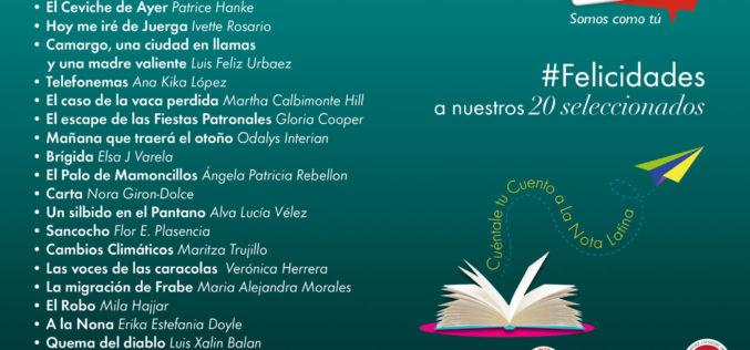 Cuéntale tú Cuento a La Nota Latina 2016: Lista completa de los cuentos finalistas