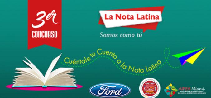 La Nota Latina premia hoy a ganadores de la tercera edición de su Concurso de Cuentos
