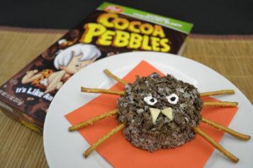 Cocoa Pebbles Araña para que los niños celebren Halloween