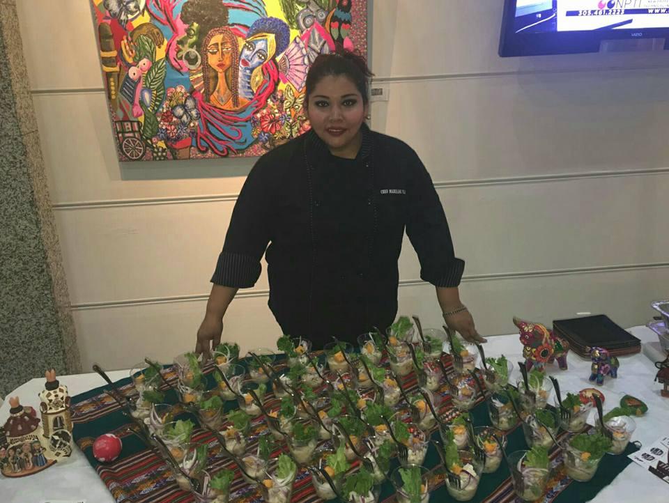 La chef Mariline Villa fue la encargada de preparar una deliciosa comida peruana.