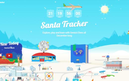 ¿Dónde está Santa en este momento?