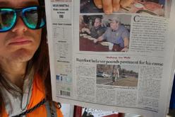 Un trágico final sorprende al activista que quería cruzar EEUU descalzo