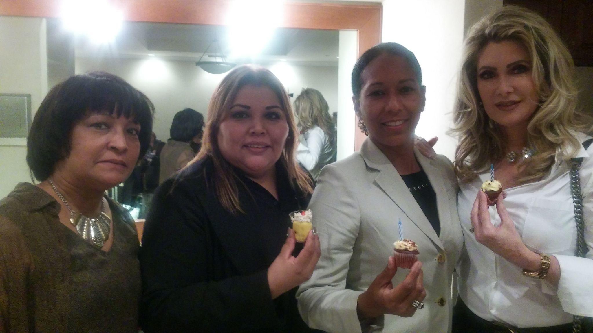 La actriz Felicia Mercado, Vivianca Cancio, la chef Mariline Villa y Rafaela Aquino, directora de Unicaribe Collage.