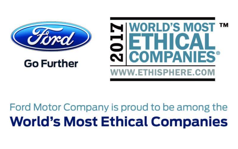 Ford es elegida entre las compañías con más ética corporativa del mundo