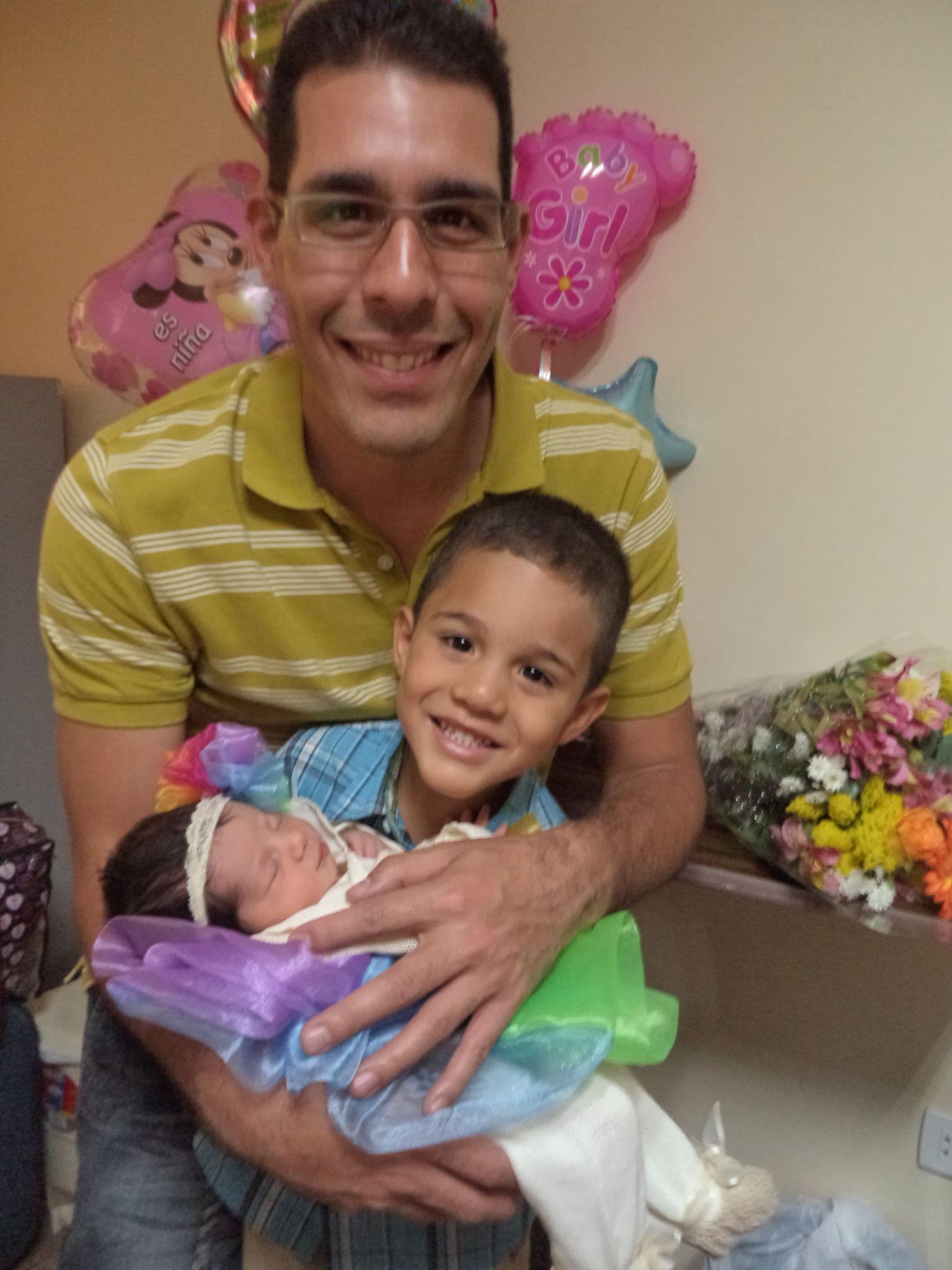 Belkis Osorio y su familia