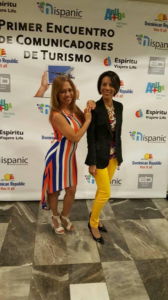 Las periodistas Leyda Alvarez y Yamilet Salazar