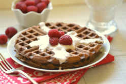 Waffles de frambuesa: un desayuno especial para mamá
