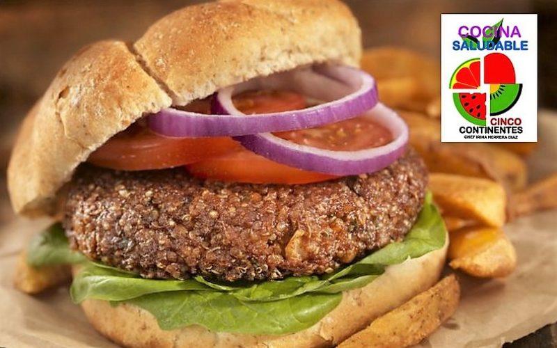 Cocina saludable hamburguesa de quinua for Cocina saludable